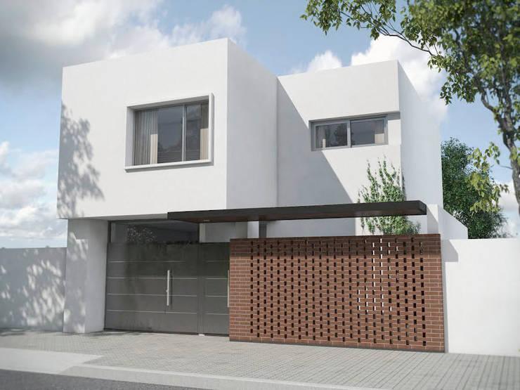 Casas de estilo  por Proyectarq , Moderno Ladrillos
