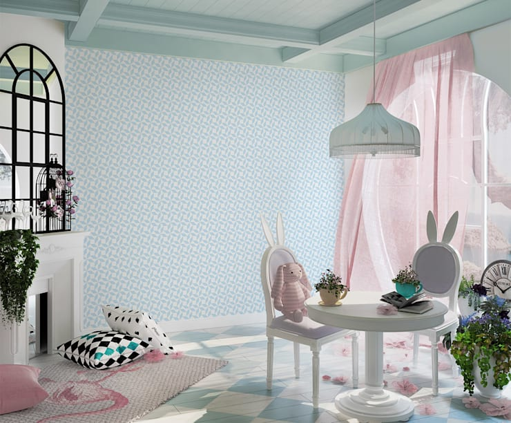 Tapeta dziecięca Paper Windmill: styl , w kategorii Ściany i podłogi zaprojektowany przez Humpty Dumpty Room Decoration