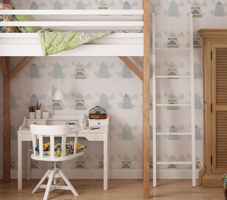 Tapeta dla dzieci Windmill: styl , w kategorii Ściany i podłogi zaprojektowany przez Humpty Dumpty Room Decoration
