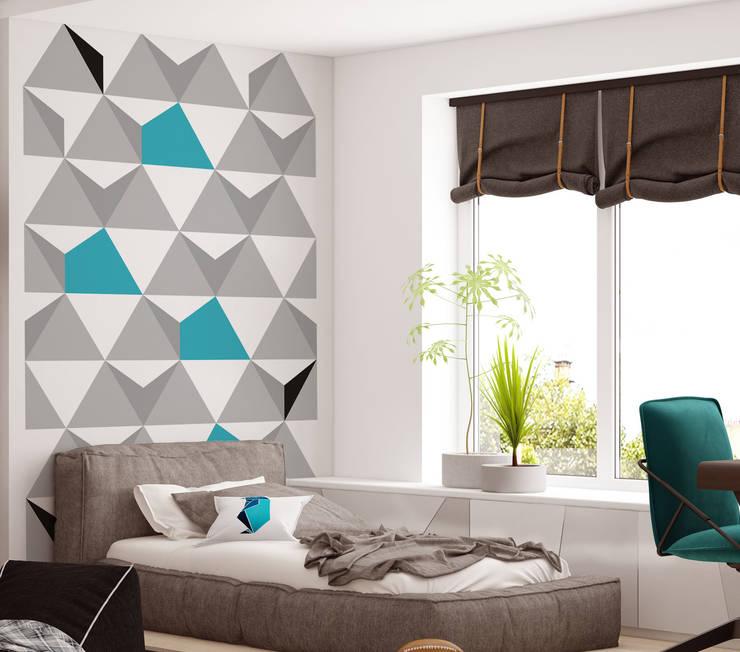 Tapeta młodzieżowa Triangulars: styl , w kategorii Ściany i podłogi zaprojektowany przez Humpty Dumpty Room Decoration