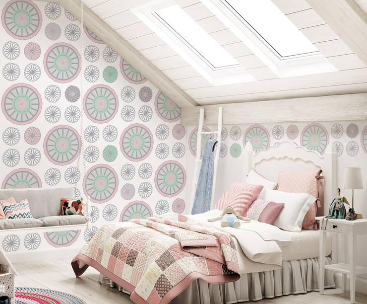 Tapeta dla dzieci Pastel Flowers: styl , w kategorii Pokój dziecięcy zaprojektowany przez Humpty Dumpty Room Decoration