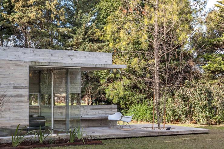 Pabellón Casa Torcuato: Jardines de invierno de estilo  por Besonías Almeida arquitectos,