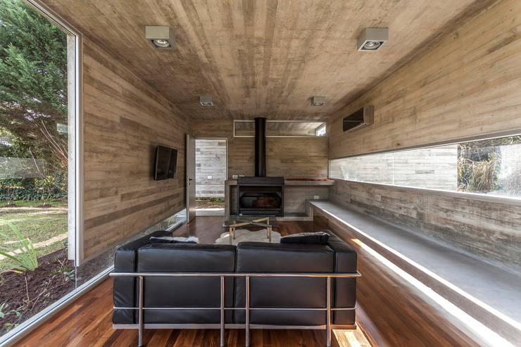 Pabellón Casa Torcuato: Livings de estilo  por Besonías Almeida arquitectos,