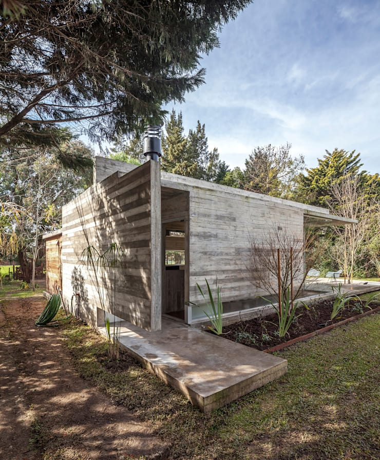 Pabellón Casa Torcuato: Casas de estilo  por Besonías Almeida arquitectos,
