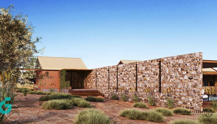 Vista Posterior/Recamara Principal: Casas de estilo  por Grupo G Cinco