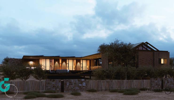 Vista Frontal, atardecer: Casas de estilo  por Grupo G Cinco