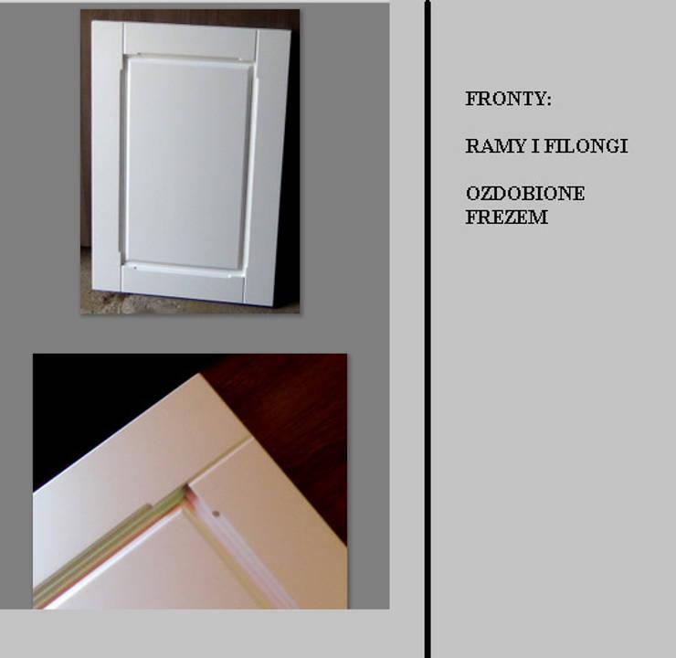 STYLIZOWANE, FREZOWANE FRONTY: styl , w kategorii Salon zaprojektowany przez Meble - Fashion Project Norbert Bakuła