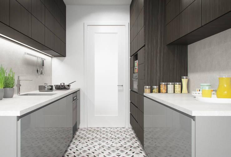 Apartamento Egas Moniz: Cozinhas  por ASVS Arquitectos Associados