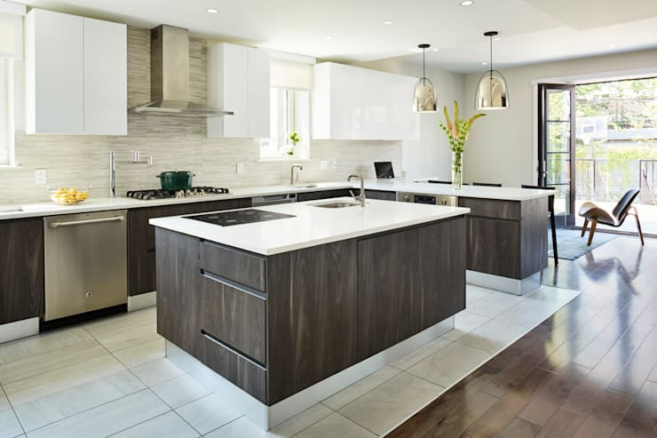 Carroll Street: modern Kitchen by M Monroe Design