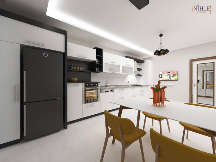 Projekty,  Kuchnia zaprojektowane przez nihle iç mimarlık