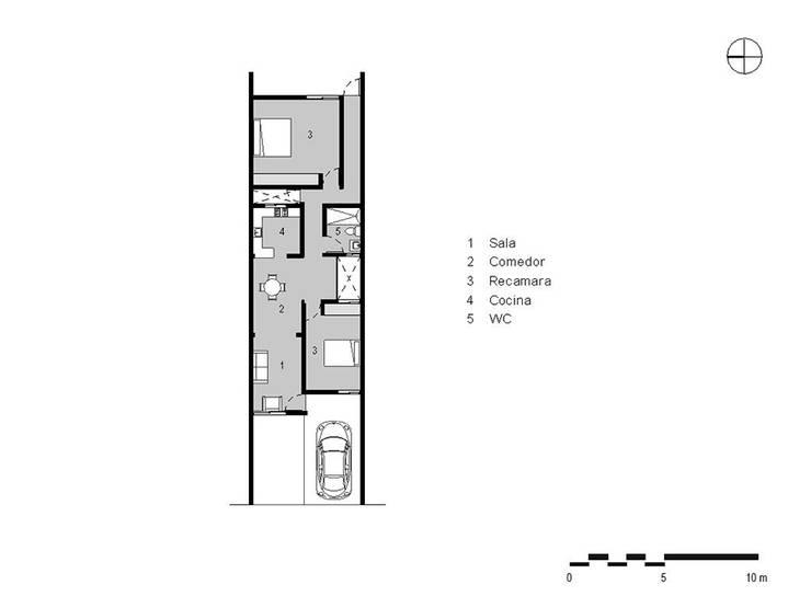 Casa Ana:  de estilo  por SRA arquitectos