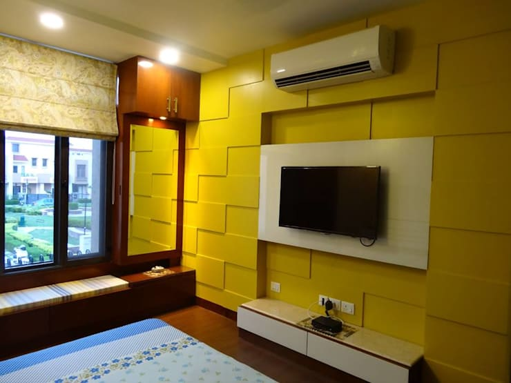 Villa Interiors at Ghaziabad:  Bedroom by Ar. Sandeep Jain
