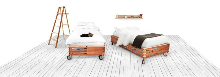 Single Bed - Mercado Collection: Quarto  por Varas Verdes