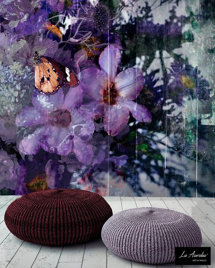 'Blooming' Wallpaper:  Muren door La Aurelia