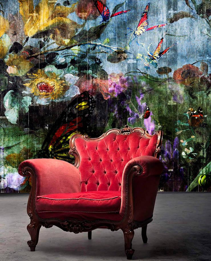 'Butterfly Garden' Wallpaper:  Muren door La Aurelia