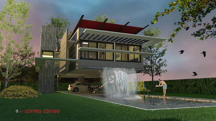 Vivienda suspendida: Casas de estilo  por Arq. Jose F. Correa Correa,