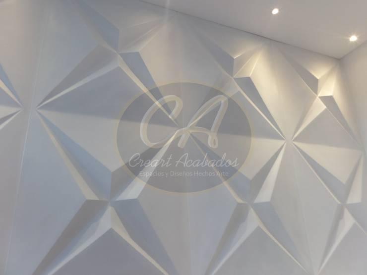 Revestimientos decorativos para muros interiores y exteriores. Star Panel: Paredes y suelos de estilo  por Creart Acabados,