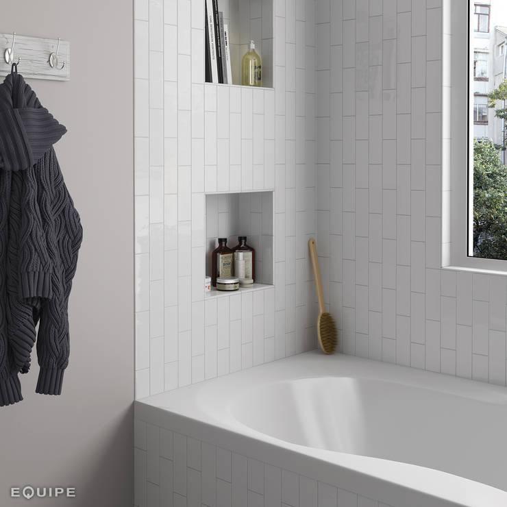 Country Blanco 6,5x20: Baños de estilo  de Equipe Ceramicas