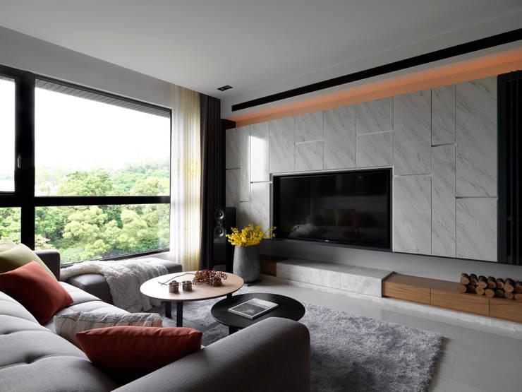 Living room by DYD INTERIOR大漾帝國際室內裝修有限公司, Asian