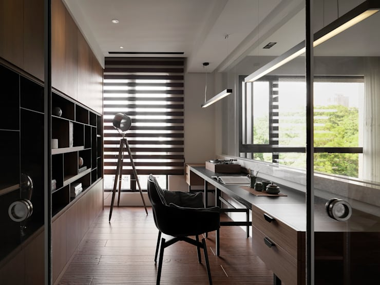 Study/office by DYD INTERIOR大漾帝國際室內裝修有限公司, Asian