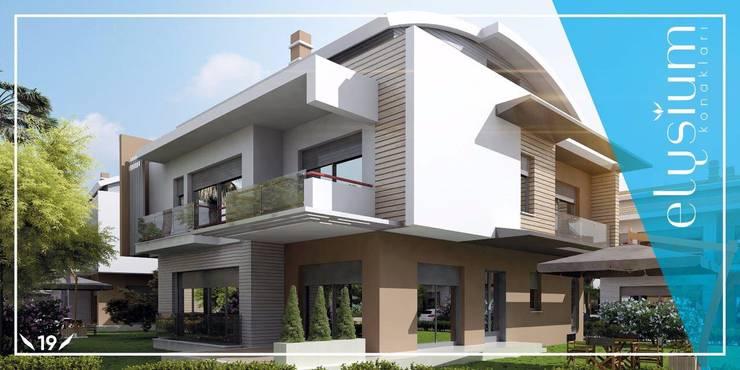 Fe mimarlık mühendislik ltd.şti. – ELYSIUM VİLLALARI: modern tarz , Modern