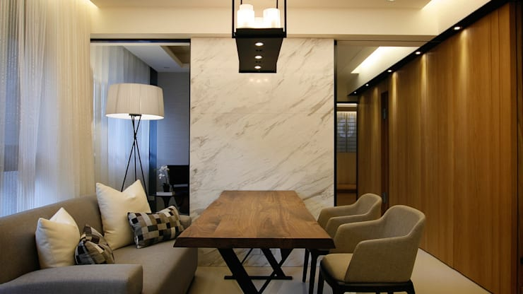 BRAVO INTERIOR DESIGN & DECO    ZEN STYLE:  客廳 by 璞碩室內裝修設計工程有限公司