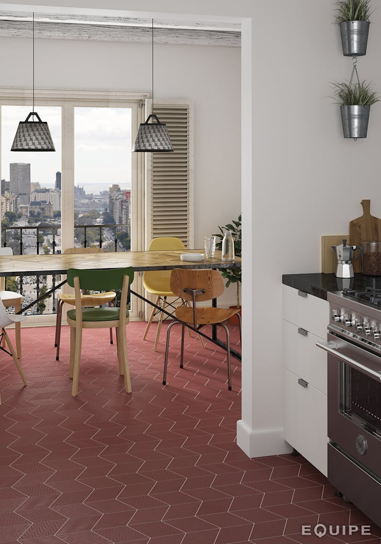 Dining room by Equipe Ceramicas,