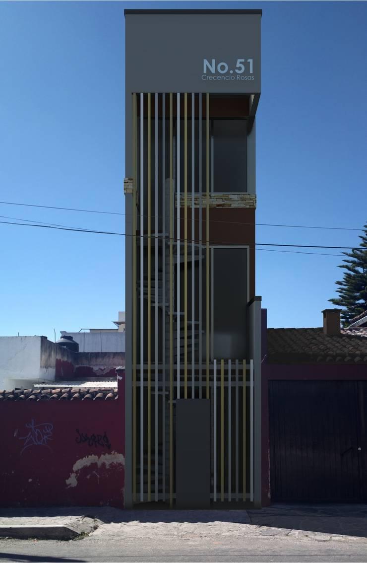 Oficina y Mini Departamentos: Casas de estilo  por Arq. Rodrigo Culebro Sánchez