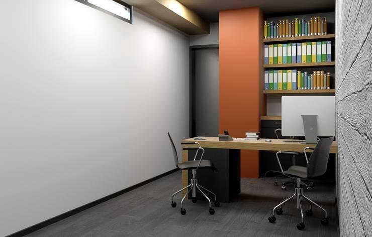 Oficina y Mini Departamentos: Estudios y oficinas de estilo  por Arq. Rodrigo Culebro Sánchez