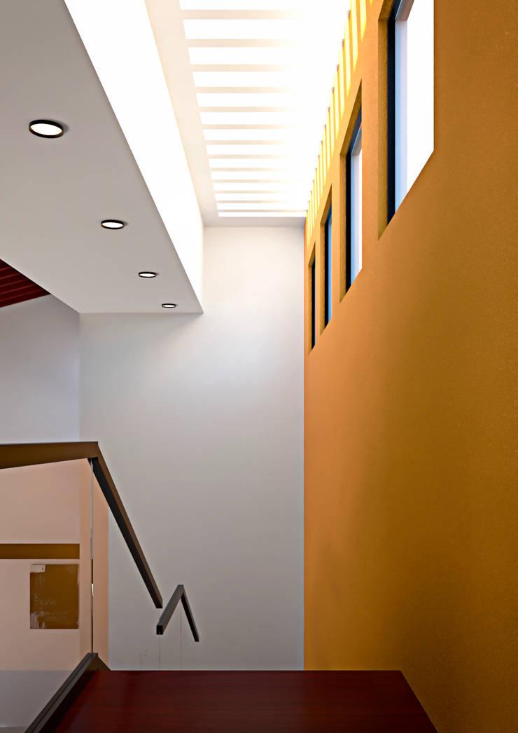 Escalera: Salas de estilo  por Laboratorio Mexicano de Arquitectura