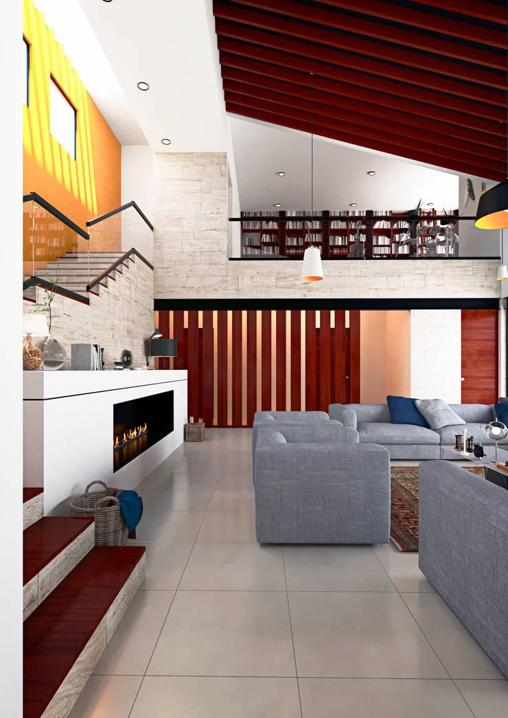 Sala: Salas de estilo  por Laboratorio Mexicano de Arquitectura