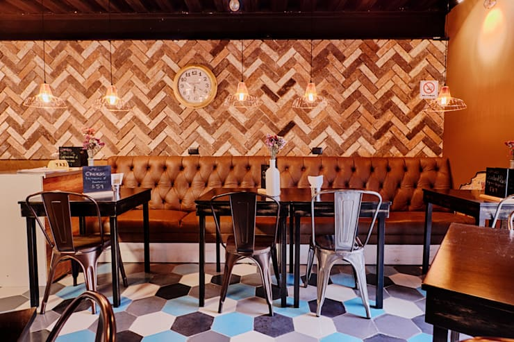 Big Apple Bagels: Comedores de estilo  por Ariadna Argüelles Arquitectura