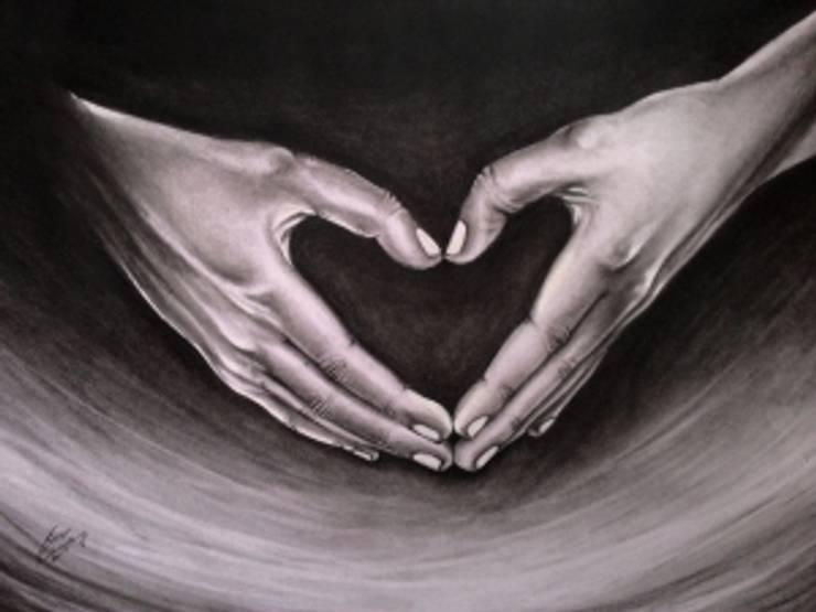 Heart in hand:  Artwork by Indian Art Ideas