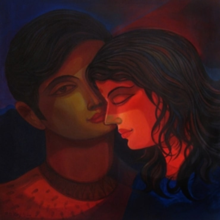 Me and you 17  :  Artwork by Indian Art Ideas
