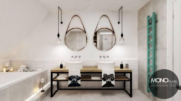 Baños de estilo escandinavo por MONOstudio
