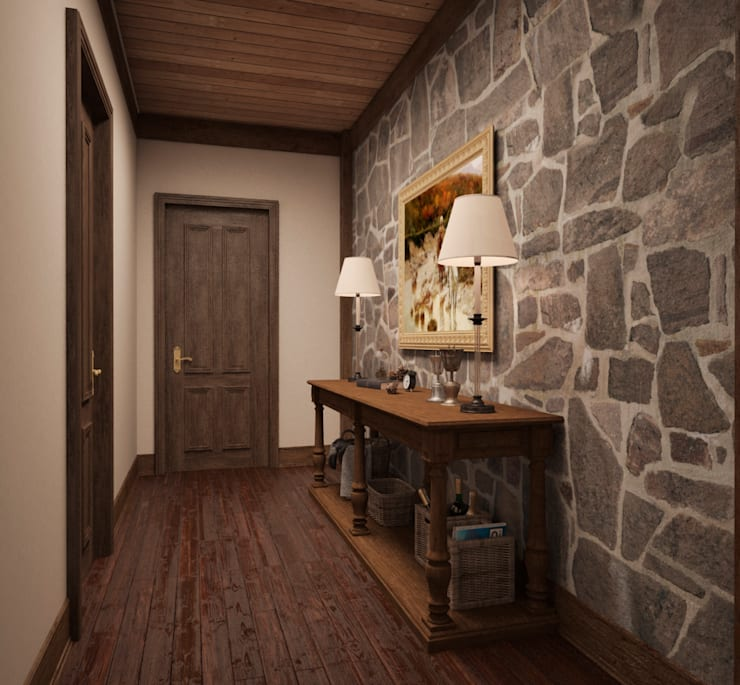 Pasillos y recibidores de estilo  por Архитектура Интерьера