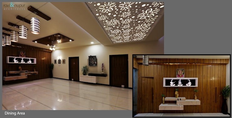 Three Storey Grand Residence @Paota,Jodhpur:  Living room by RAVI - NUPUR ARCHITECTS