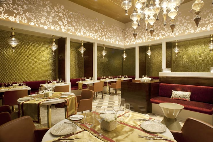 GVK Lounge by TFS Performa (First Class at Terminal 2, Mumbai):  Airports by ABM ARCHITECTS,Classic