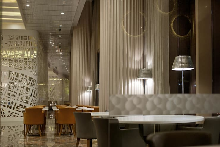 GVK Lounge by TFS Performa (Business Class at Terminal 2, Mumbai):  Airports by ABM ARCHITECTS,Classic