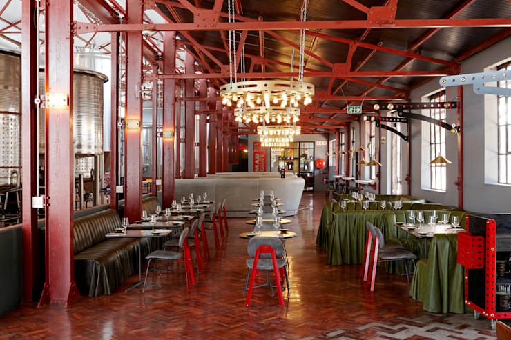 Mad Giant brewery and restaurant:  Gastronomy by Haldane Martin Iconic Design, Industrial Aluminium/Zinc