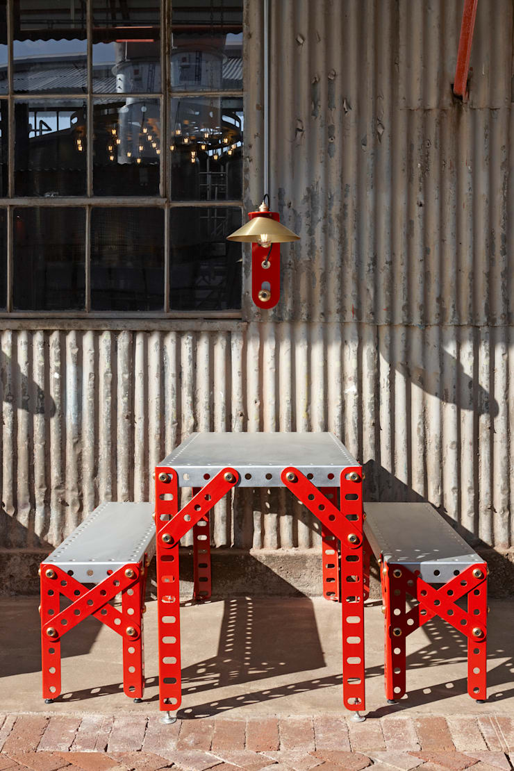 Mad Giant brewery and restaurant:  Gastronomy by Haldane Martin Iconic Design, Industrial Iron/Steel