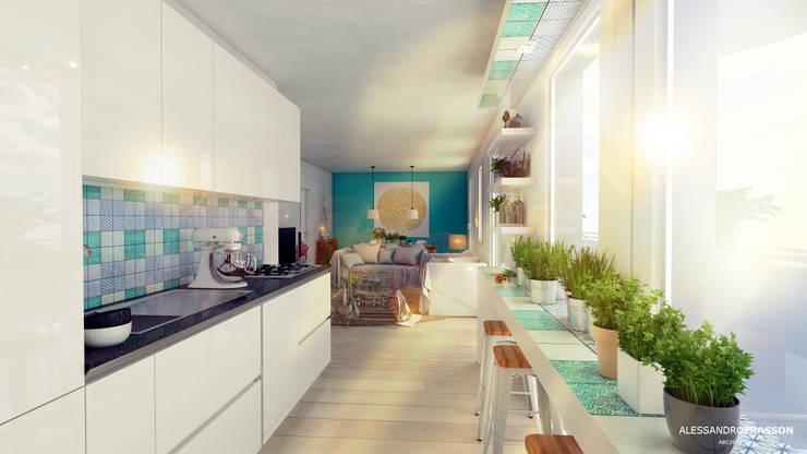 مطبخ تنفيذ Studio Frasson