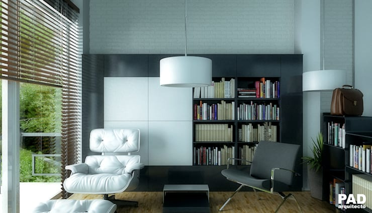 Render estudio departamentos.:  de estilo  por argueta+f9 arquitectura