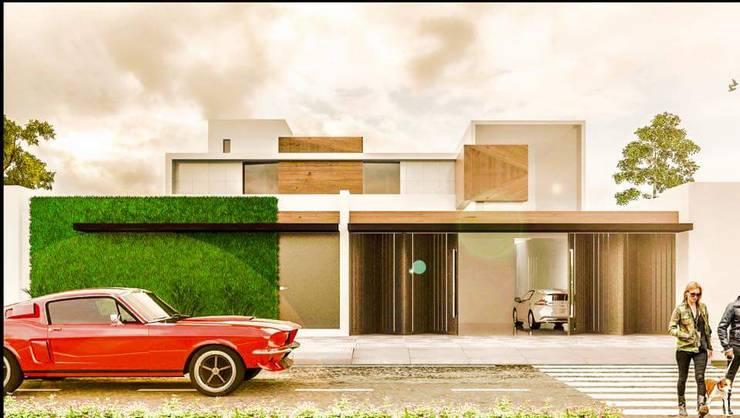 Casa PV: Casas de estilo  por Despacho Integral de Arquitectura y Construccion
