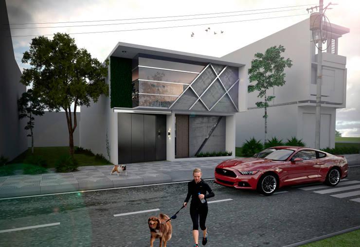 Casa FGG: Casas de estilo  por Despacho Integral de Arquitectura y Construccion