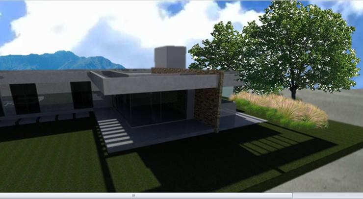 Vivienda en Portal de Boedo - Maipú: Casas de estilo  por CALVENTE - TIÓN Arquitectas,