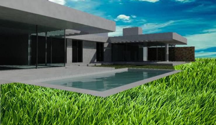 Vivienda en Portal de Boedo – Maipú: Casas de estilo  por CALVENTE - TIÓN Arquitectas,