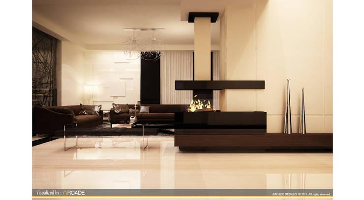 Living room by ARCADE DESIGNS