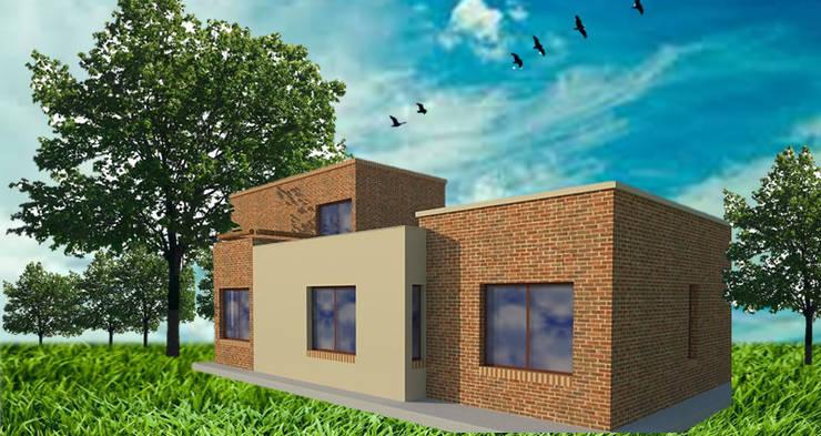 Vivienda en Russel - Maipú: Casas de estilo  por CALVENTE - TIÓN Arquitectas,