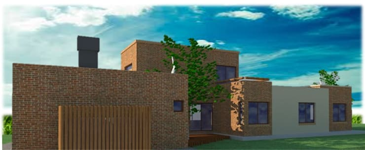 Vivienda en Russel – Maipú: Casas de estilo  por CALVENTE - TIÓN Arquitectas,